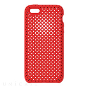 【iPhoneSE(第1世代)/5s/5 ケース】Mesh Case (Red)