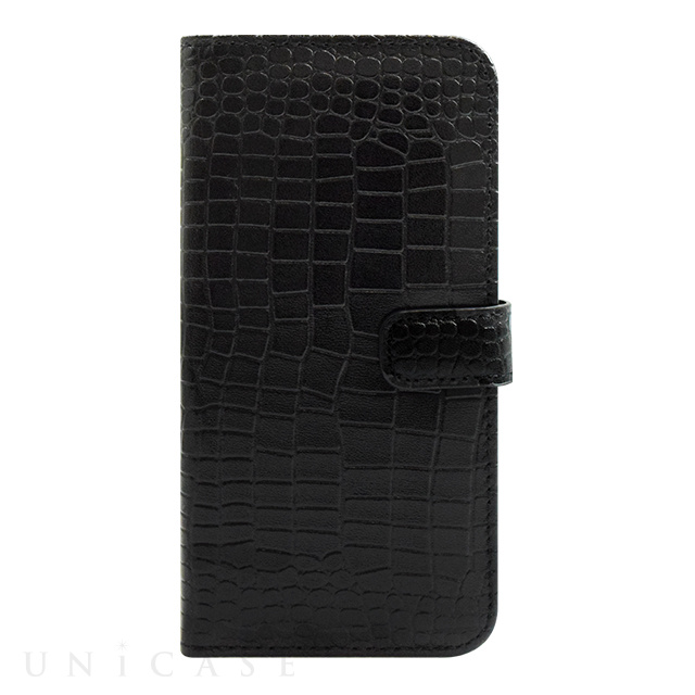 【iPhone6s/6 ケース】COWSKIN Diary Black×ALLIGATOR for iPhone6s/6