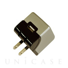 【ACアダプター】2.4A Aluminum USB Adapter (GRAY)【急速充電】