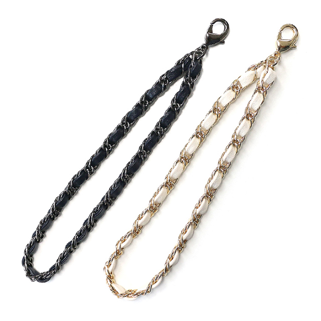 Leather Chain Hand Strap (アイボリー)