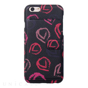 【iPhone6s/6 ケース】Crayon Back cover (Black+Pink)