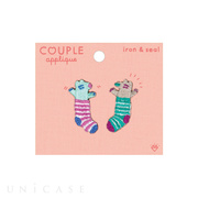 APPLIQUE COUPLE (anaguma)