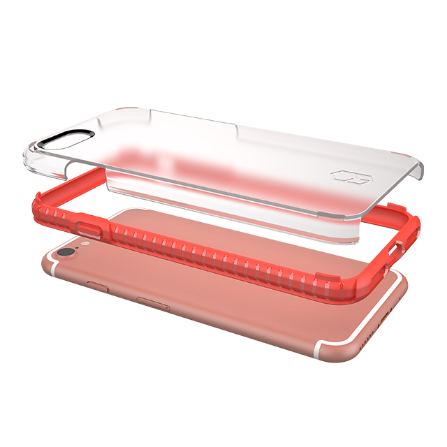 【iPhone8/7 ケース】Level Case (Red/Clear)サブ画像