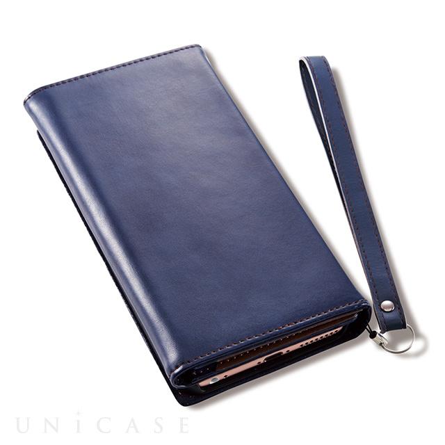 e0fca44783 ... 【iPhone8 Plus/7 Plus ケース】Billfold フリップノートカードケース (ネイビー) ...