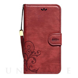 【iPhone8/7 ケース】SMART COVER NOTEBOOK (Wine Red)