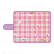 【iPhone8/7 ケース】Pink plaid flower