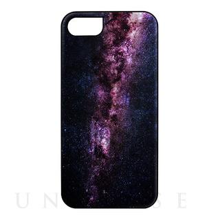 【iPhone7 ケース】天然貝ケース (Milky way/ブラックフレーム)
