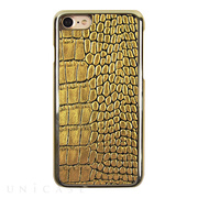 【iPhone8/7 ケース】Gold Croco Bar