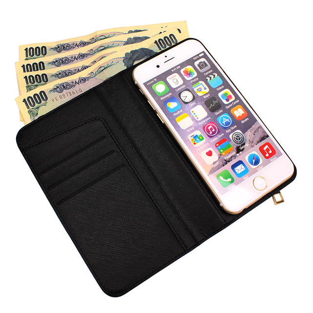 【iPhone8/7 ケース】Wallet Case (Ribbon Black)