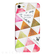 【iPhone8/7 ケース】Triangle Pattern (ピンク)