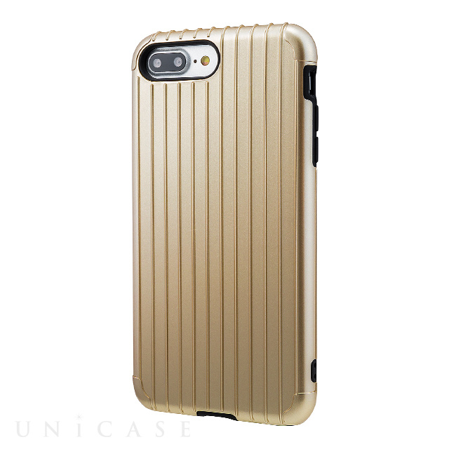 "【iPhone8 Plus/7 Plus ケース】""Rib"" Hybrid Case (Gold)"