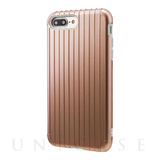 "【iPhone8 Plus ケース】""Rib"" Hybrid Case (Rose Gold)"