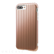 "【iPhone8 Plus/7 Plus ケース】""Rib"" Hybrid Case (Rose Gold)"