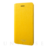 "【iPhone8/7 ケース】Flap Leather Case ""Colo"" (Yellow)"