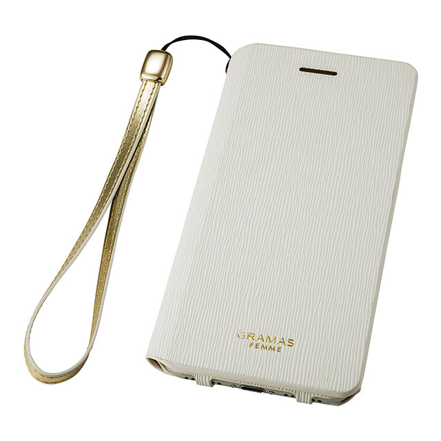 "【iPhone8/7 ケース】Flap Leather Case ""Colo"" (White)サブ画像"