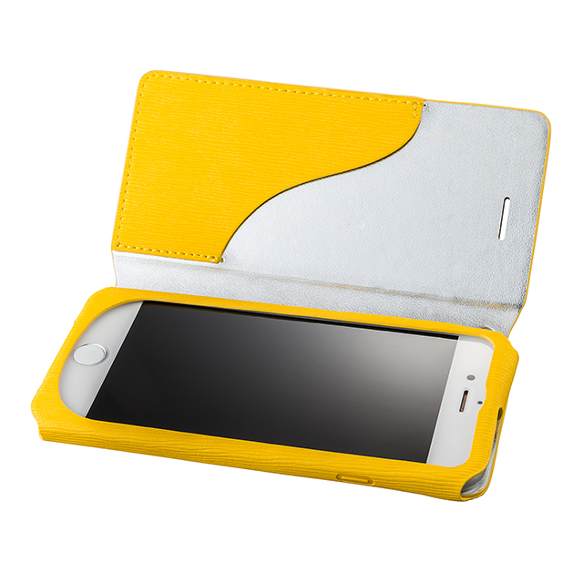"【iPhone8/7 ケース】Flap Leather Case ""Colo"" (Yellow)サブ画像"