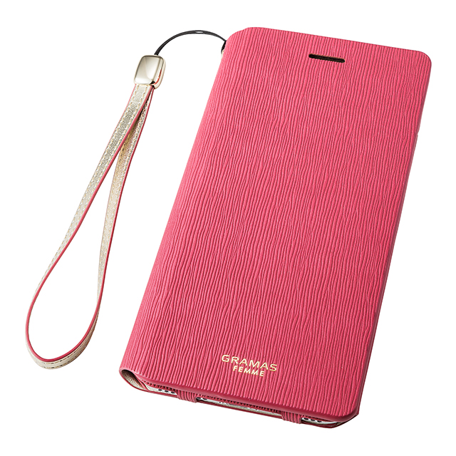 "【iPhone8 Plus/7 Plus ケース】Flap Leather Case ""Colo"" (Pink)サブ画像"