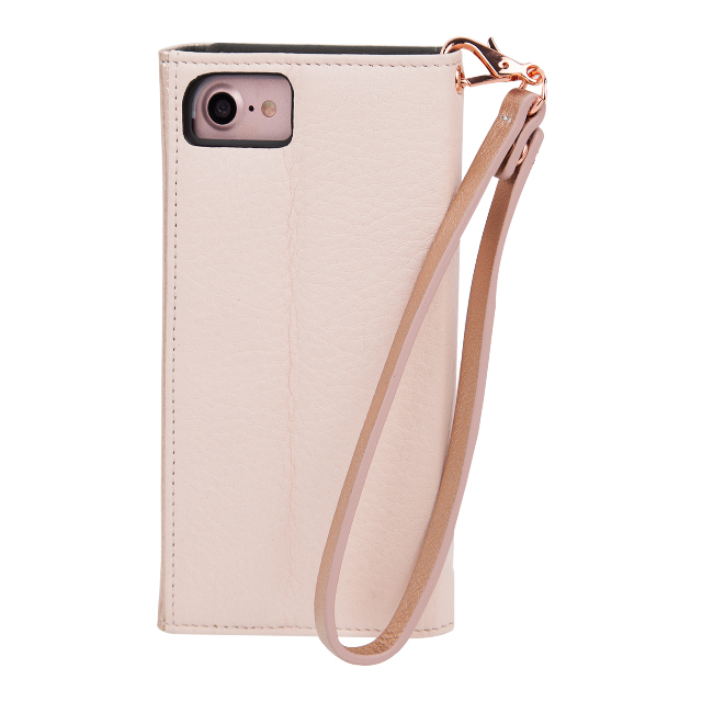 【iPhoneSE(第2世代)/8/7/6s/6 ケース】Leather Folio Wristlet Case (Rose Gold)サブ画像