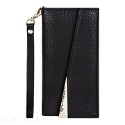 【iPhone8 Plus/7 Plus ケース】Leather Folio Wristlet Case (Black)