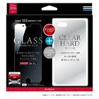 【iPhone7 Plus ケース】ガラスフィルム+ハードケース セット 「GLASS + CLEAR PC」 通常/0.33mm&クリア