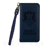 【iPhone8/7 ケース】RODEOCROWNS [LEATHER] (ネイビー)