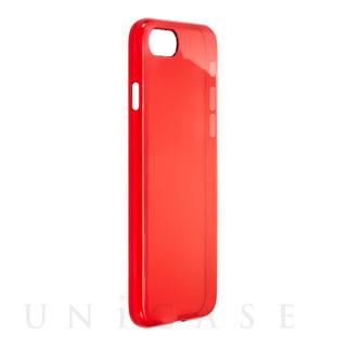 iPhone7 ケース クリスタルスリムハードケース クリスタルレッド