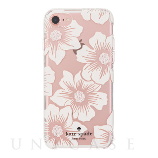 【iPhone7 ケース】1PC Comold (Hollyhock Floral Clear/Cream with Stones)
