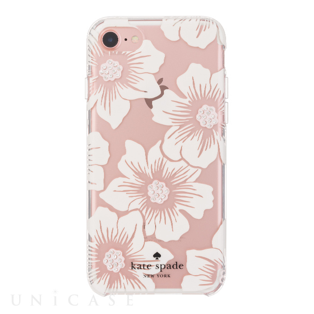 【iPhone8/7 ケース】1PC Comold (Hollyhock Floral Clear/Cream with Stones)