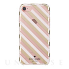 【iPhone7 ケース】1PC Comold (Diagonal Stripe Blush/Gold Foil/Clear)