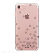 【iPhoneSE(第2世代)/8/7 ケース】1PC Comold (Dot Rose Gold Foil/Clear)