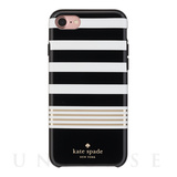 【iPhone7 ケース】1PC Comold (Stripe 2 Black/White/Gold Foil)