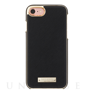 【iPhone7 ケース】Wrap Case (Saffiano Black/Gold Logo Plate)