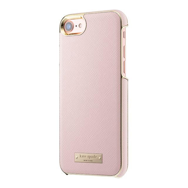 【iPhone8/7 ケース】Wrap Case (Saffiano Rose Quartz/Gold Logo Plate)サブ画像