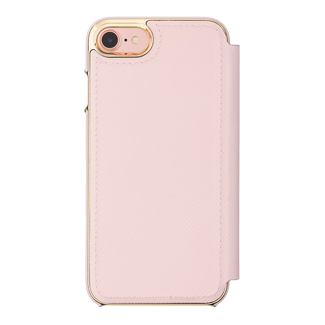 【iPhone8/7 ケース】Folio Case (Saffiano Rose Quartz/Gold Logo Plate)サブ画像