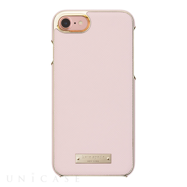 【iPhone8/7 ケース】Wrap Case (Saffiano Rose Quartz/Gold Logo Plate)