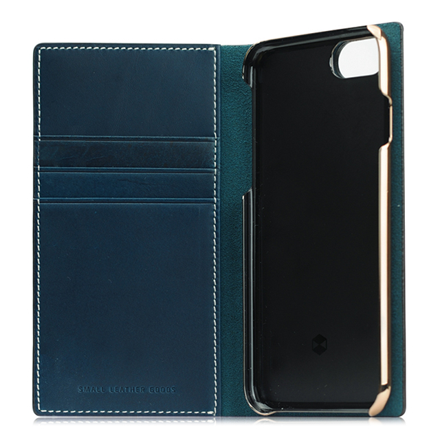 【iPhone8/7 ケース】Buttero Leather Case (ブルー)サブ画像