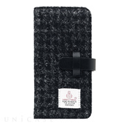 【iPhone8/7 ケース】Harris Tweed Diary (ブラック)