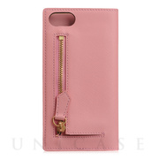 【iPhone8/7 ケース】Saffiano Zipper Case (ベビーピンク)