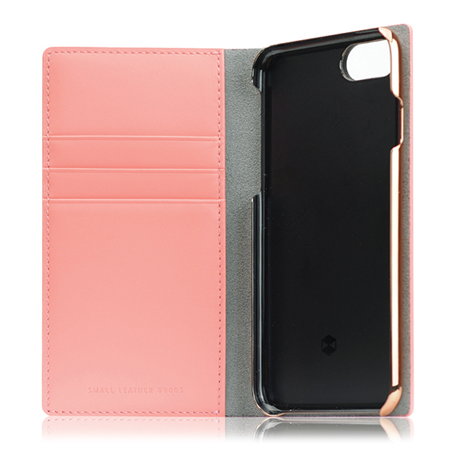 【iPhone8/7 ケース】Calf Skin Leather Diary (ベビーピンク)サブ画像