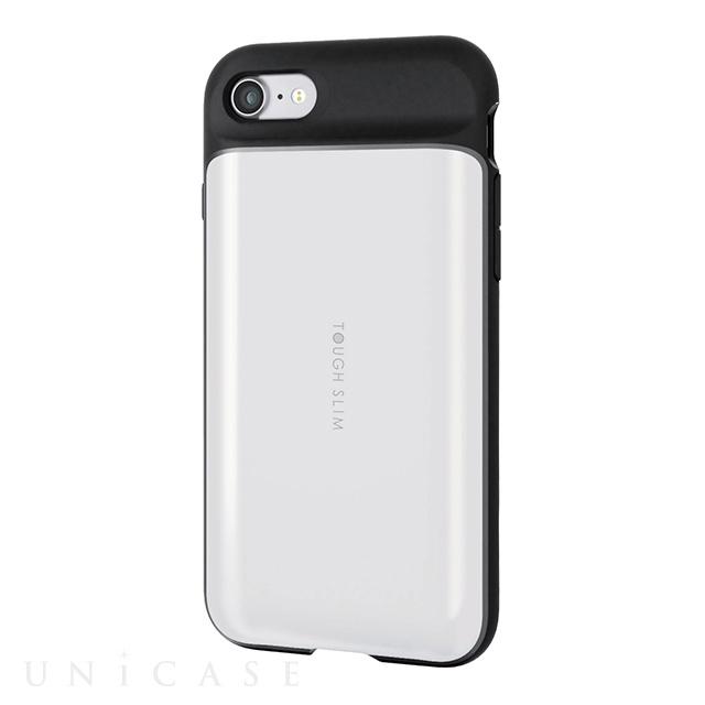 ... 【iPhone8/7 ケース】TOUGH SLIM/ICカード収納 (ホワイト) ...