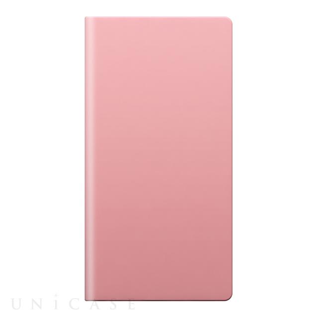 【iPhone8 Plus/7 Plus ケース】Calf Skin Leather Diary (ベビーピンク)