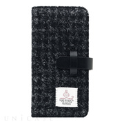 【iPhone8 Plus/7 Plus ケース】Harris Tweed Diary (ブラック)