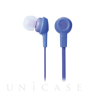 【イヤホン マイク付 Bluetooth】カジュアル (ブルー)