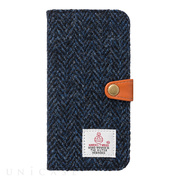 【iPhone8/7 ケース】RILEGA Harris Tweed Flip (ブルー・ヘリンボーン)