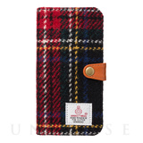 【iPhone7 ケース】RILEGA Harris Tweed Flip (タータンチェック)