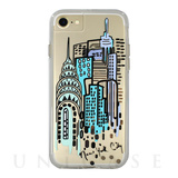 【iPhone8/7/6s/6 ケース】Hybrid Tough Naked Case Designers CITY Prints (NEW YORK/CITY VIEW)
