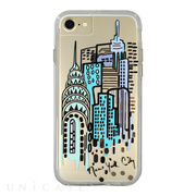 【iPhoneSE(第2世代)/8/7/6s/6 ケース】Hybrid Tough Naked Case Designers CITY Prints (NEW YORK/CITY VIEW)