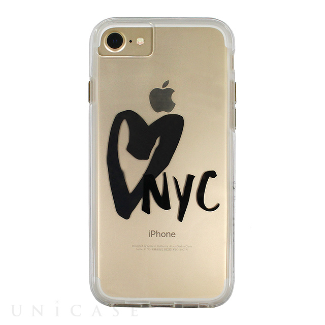 【iPhone8/7/6s/6 ケース】Hybrid Tough Naked Case Designers CITY Prints (NEW YORK/I HEART NYC)