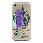 【iPhoneSE(第2世代)/8/7/6s/6 ケース】Hybrid Tough Naked Case Designers CITY Prints (CHICAGO/SKYLINE)