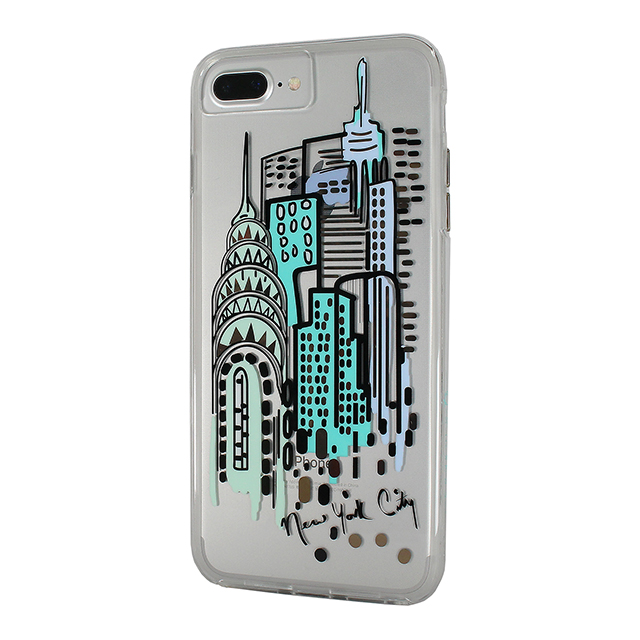 【iPhone8 Plus/7 Plus ケース】Hybrid Tough Naked Case Designers CITY Prints (NEW YORK/CITY VIEW)